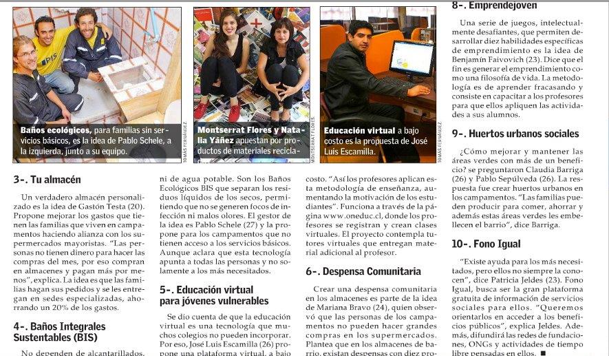 Oneduc- Diario El Mercurio